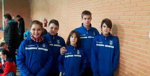 Representantes del CD Bádminton Huelva en el evento celebrado en Rute este fin de semana.