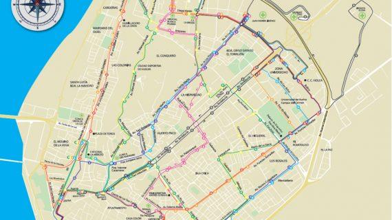Nuevo mapa de líneas de autobuses a partir de mañana lunes 28 de enero