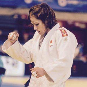 Almudena Gómez fue séptima en el Abierto de Bulgaria de judo. / Foto: @JudoHuelva1.