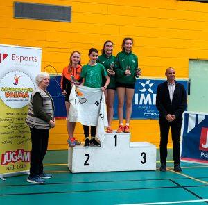Carolina Vallejo, oro y plata en el Máster Jóvenes Sub 15 y Sub 19 de Palma de Mallorca.