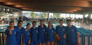 Componentes del CN Huelva en el Campeonato celebrado en Torre del Mar.