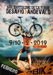 Cartel anunciador de la prueba ciclista que se disputará en San Bartolomé de la Torre este fin de semana.