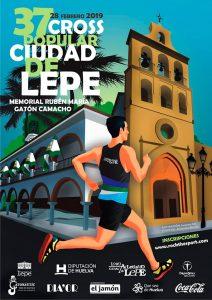 Cartel de la prueba atlética que tendrá lugar este jueves en Lepe.