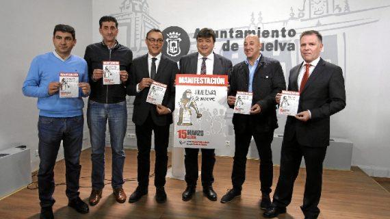 Llamada a la participación masiva este viernes 15 de marzo en la manifestación 'Huelva se mueve'