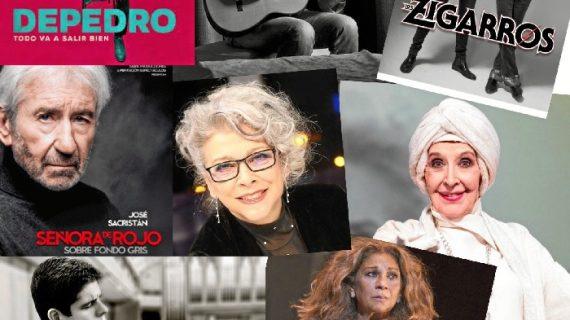Depedro, Revólver, los Zigarros, José Sacristán, Kiti Manver, Concha Velasco y Lolita Flores, esta primavera en el Gran Teatro