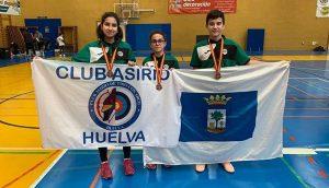 Judit Jiménez, Myriam Camacho e Ignacio González, subcampeones de España por Equipos.