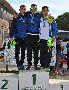 Pablo Moreno y Carlos Rovira, oro y plata en la categoría Hombre Senior, en el podio.