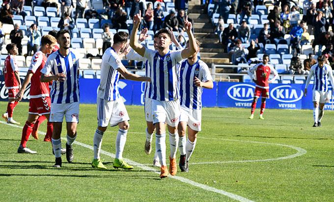 El Recre necesita ganar los dos partidos que restan para tener opciones a la primera plaza del grupo. / Foto: Pablo Sayago.