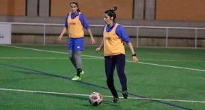 Las jugadoras del Sporting ya trabaja pensando en el siguiente partido liguero ante el Betis. / Foto: @sportinghuelva.