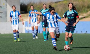 Las jugadoras del Sporting han dejado atrás su partido ante el Fundación Albacete y se centran en el duelo en el Miniestadi. / Foto: www.lfp.es.