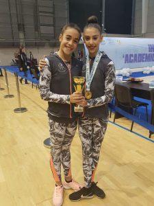 Ángela Martín y Lucía Paiseo, deportistas del Rítmico Colombino en Guadalajara.