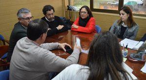 Un momento de la reunión que ha mantenido Aurora Águedo, alcaldesa de Punta Umbría, con miembros de la directiva del CDNPU.