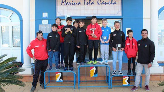 Enorme satisfacción en el Club Deportivo Náutico de Punta Umbría tras competir en el Campeonato Provincial de Óptimist