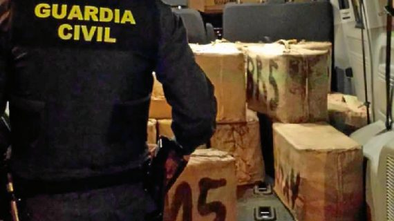 Interceptada una furgoneta con 620 kilos de hachís en un control anti-drogas
