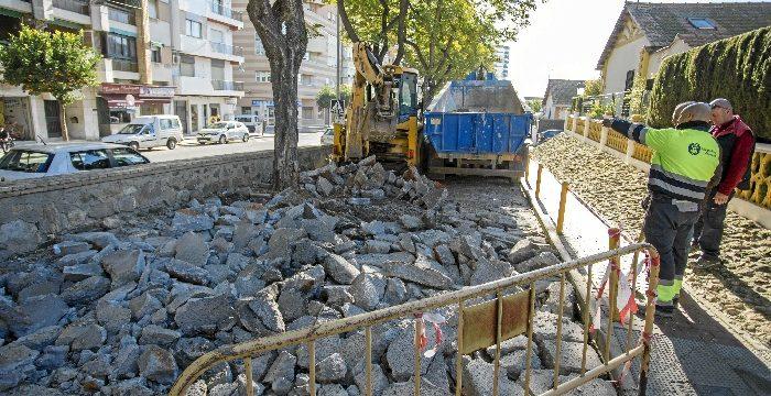 Un total de 71 obras en enero para el mantenimiento de la ciudad