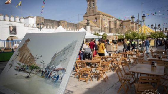 Un concurso de pintura rápida rinde homenaje al pintor moguereño Rafael Romero Barros