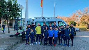 Deportistas del CDNPU en la prueba celebrada en Sevilla.