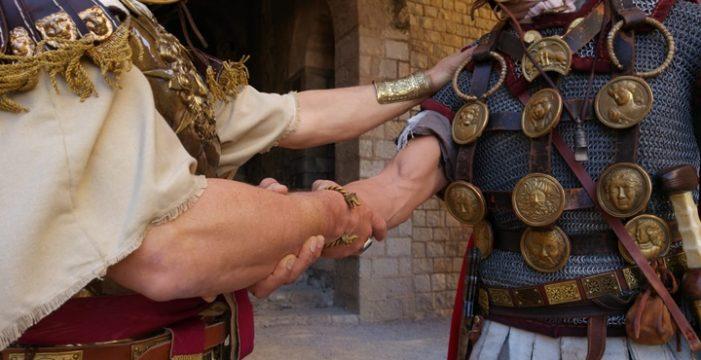 Legio IX Hispania y Dominae Noae exponen su recreación de la Roma clásica en Sagunto