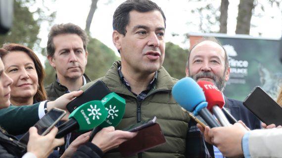 El presidente de la Junta de Andalucía, Juanma Moreno, visita Huelva este lunes