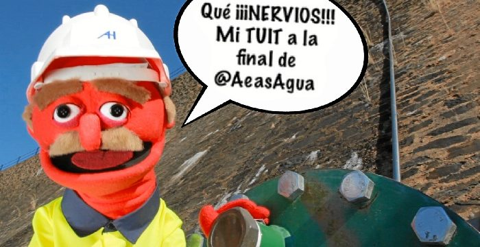 Un tuit de Aguas de Huelva, finalista en el IV Concurso Nacional de Redes Sociales de AEAS