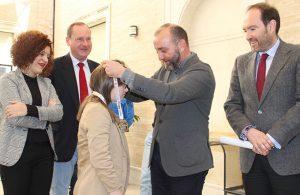 Un momento del homenaje a Blanca Betanzos en la Diputación Provincial.