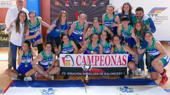 Un imparable CB Lepe Alius conquista el Campeonato Provincial Junior femenino de baloncesto