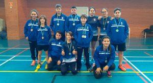 Representantes del CD Bádminton Huelva en la prueba celebrada en Isla Cristina.