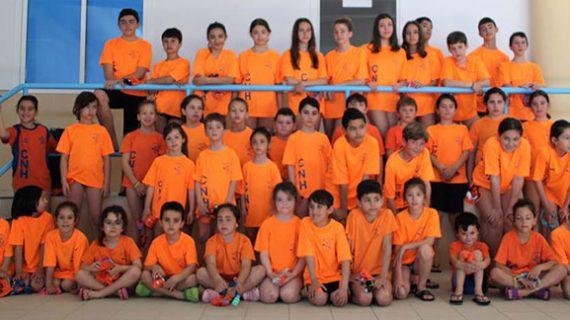 Nerva vive una intensa segunda jornada del programa de natación de La Provincia en Juego