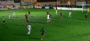 El sábado el Cartaya logró un triunfo importante en el feudo del Atlético Antoniano. / Foto: Captura Lebrija TV.