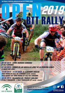 Cartel anunciador del Open de Andalucía BTT Rally 2019.