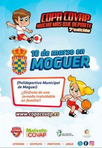 Cartel anunciador del evento que tendrá lugar el domingo en Moguer.