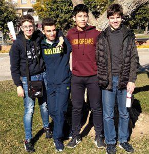 Componentes del equipo D'Huelva, subcampeones en la VI Olimpiada Interescolar de Ajedrez de Sevilla.
