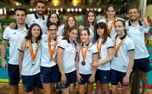 Equipo andaluz femenino que ha brillado en el Nacional celebrado en Madrid.