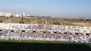 Aspecto de la grada de Fondo del Nuevo Colombino, que registró la mejor entrada de la temporada. / Foto: H. M.
