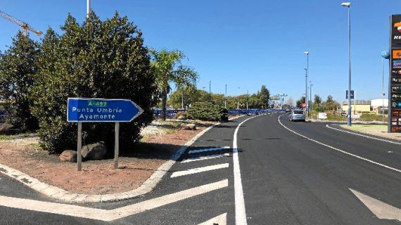 El paso inferior de entrada a Huelva del puente del Odiel se abre hoy