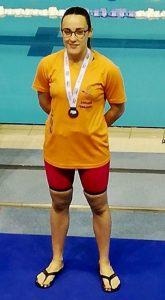 Laura Sánchez completó un soberbio torneo con la conquista de tres medallas.
