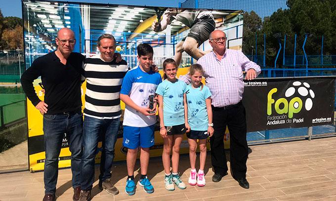 Buena actuación de los jugadores del Club Fundación 25 de Marzo en el Circuito Andaluz de Menores de Pádel