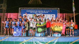 Los tres primeros clasificados en la Primera División Masculina.
