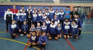 Representantes del Recre IES La Orden en el Circuito Provincial de Bádminton celebrado en Isla Cristina.