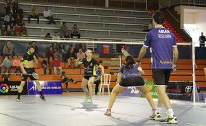 Pablo Abián, debido a una molestia en el pie, sólo disputó el partido de dobles mixtos.