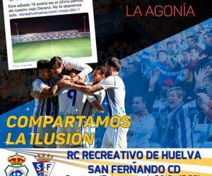 Cartel del partido del domingo ante el San Fernando.