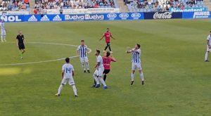 Discreto partido del Recre ante el Marbella, con el que empata sin goles. / Foto: J. R.