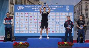 Doble título de campeón de España de tenis de mesa para Álvaro Robles. / Foto www.rfetm.es.
