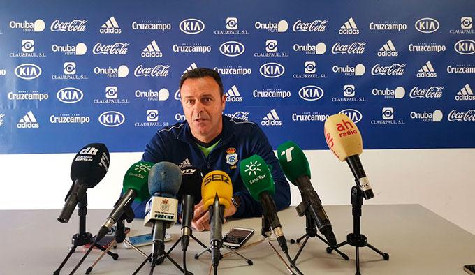 José María Salmerón, entrenador del Recreativo de Huelva.
