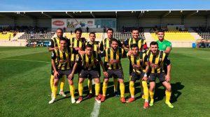 El San Roque buscará los tres puntos en su partido de este domingo en el feudo del Atlético Espeleño. / Foto: @SanRoqueLepe.