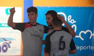 Los jugadores condales celebran uno de los goles anotados este sábado. / Foto: @LaPalmaFS.