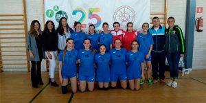 Equipo de la Universidad de Huelva en el torneo celebrado con motivo del Día de la Mujer.