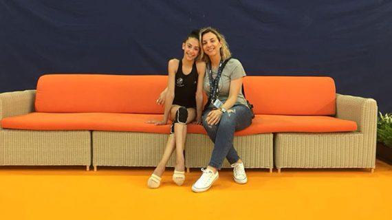 Ángela Martín acude a una nueva concentración de la selección española de gimnasia rítmica