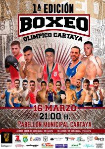 Cartel anunciador de la I Velada de Boxeo Olímpico en Cartaya.