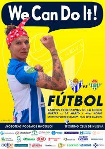 El Sporting rinde homenaje al Día Internacional de la Mujer en el cartel anunciador del próximo partido ante el Real Betis.